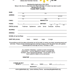 Membership Application 2015-2016