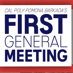 First General Meeting Oct 1st